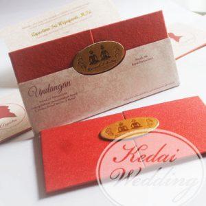 undangan hardcover merah marun