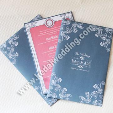 undangan semihardcover dengan amplop