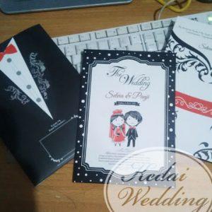 undangan pernikahan tuxedo
