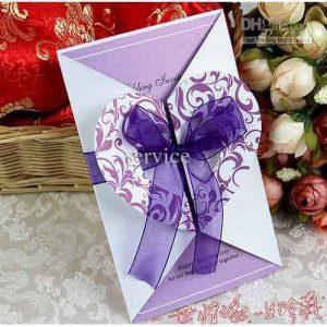 contoh undangan pernikahan model heart